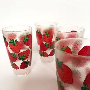 H.J. Stotter Vintage Plastic Strawberry Tumbler